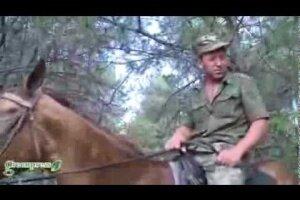 Казачий патруль в Ростовской области